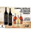 2 BOT. PAGOS DE VALCERRACIN CRIANZA + 3 BOT. VINO CASAL MENDES