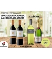 2 bot. Legaris Crianza + regalo Codorniu clasico Brut y vino Veranza Blanco