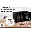 PACK 2 BOT. GIN BROCKMANS 40º 70CL + 6 COPAS PRECIO