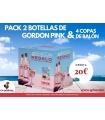 PACK 2 BOT. GIN GORDON PINK & 4 COPAS BALÓN